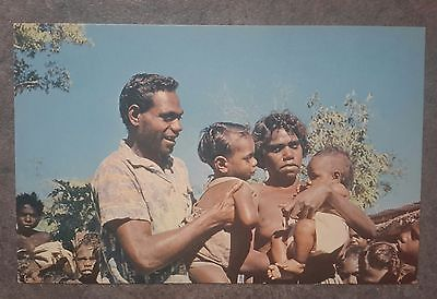 1950s-vintage-postcard-typical-happy-aborigine-family-northern